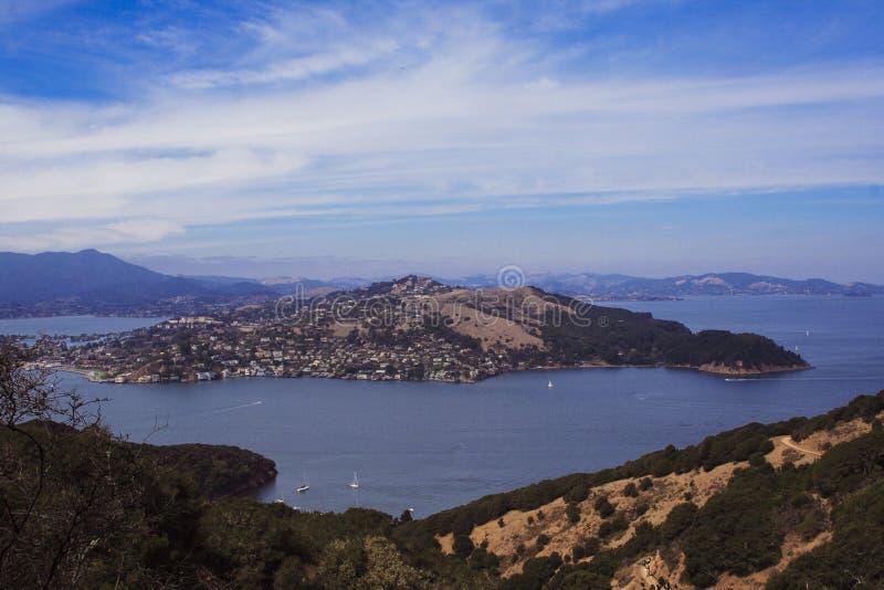 Sikt från Angel Island California fotografering för bildbyråer