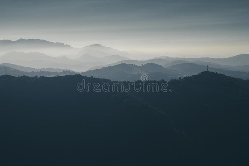 Sikt från bergen royaltyfria foton