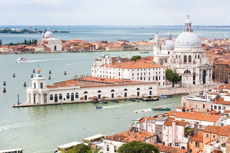 Sikt från campanilen i Venedig till söder, Italien royaltyfria bilder