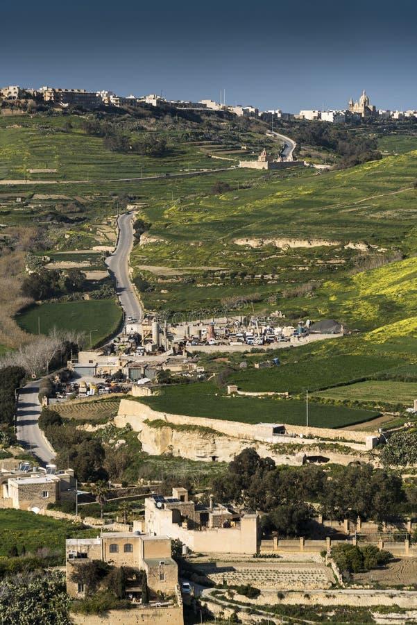 Sikt från citadellen av Victoria Gozo Malta royaltyfri bild