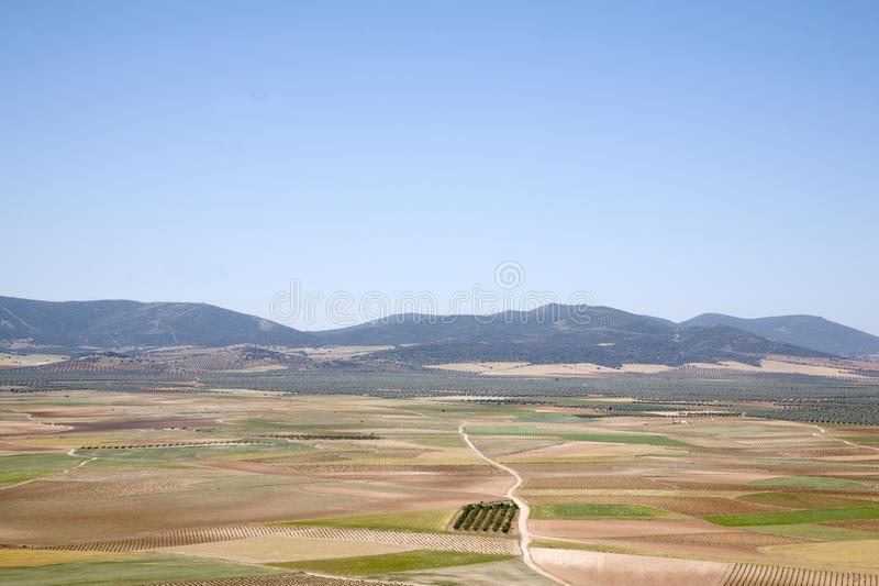 Sikt från Consuegra; Toledo, arkivbilder