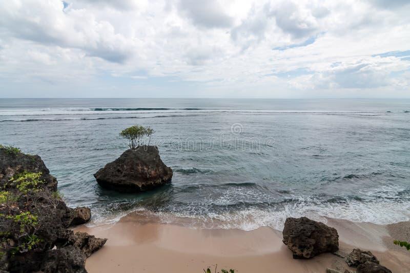 Sikt från den Beachfront villan royaltyfria foton