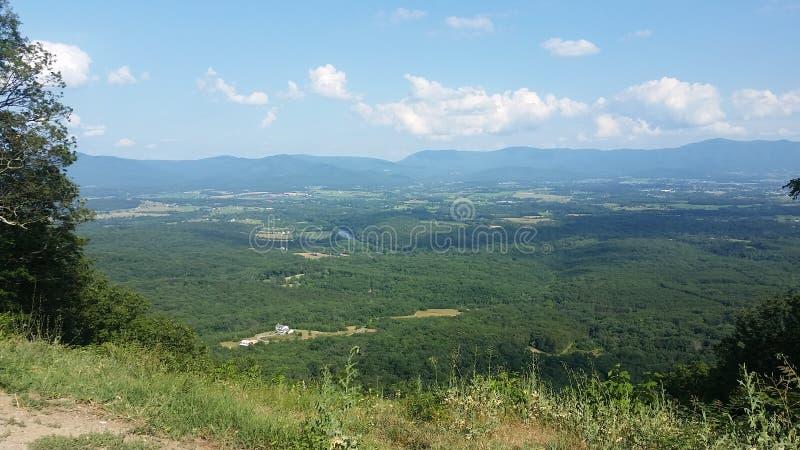 Sikt från den George Washington nationalskogen arkivbild