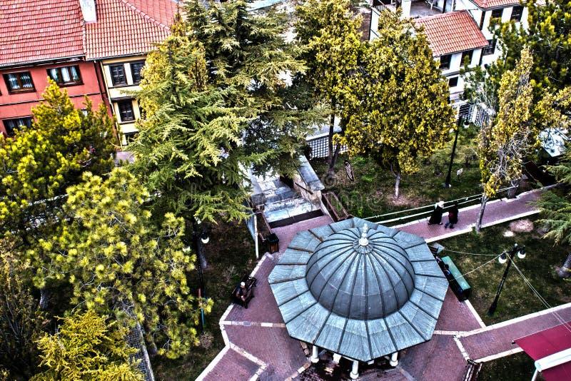 Sikt från den glass minaret fotografering för bildbyråer