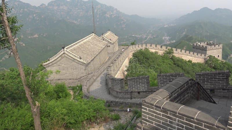 Sikt från den stora väggen av Kina royaltyfri fotografi