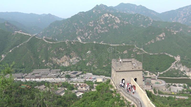 Sikt från den stora väggen av Kina royaltyfri foto