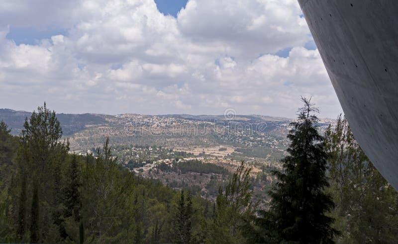 Sikt från det minnes- museet för Jerusalem förintelse royaltyfri fotografi
