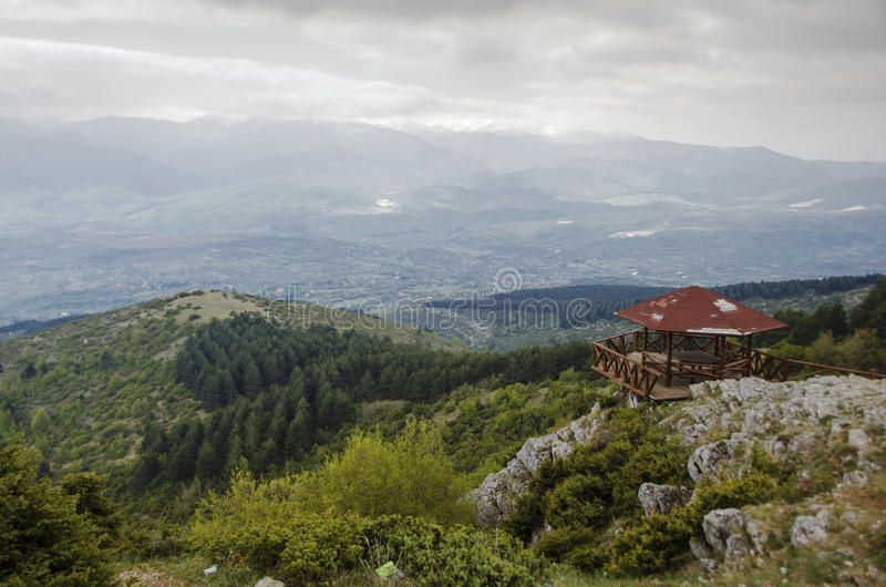 Sikt från det Vodno berget royaltyfri bild