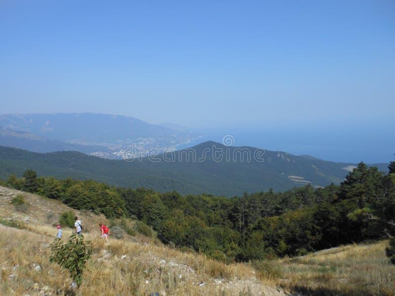 Sikt från detPetri berget royaltyfri fotografi