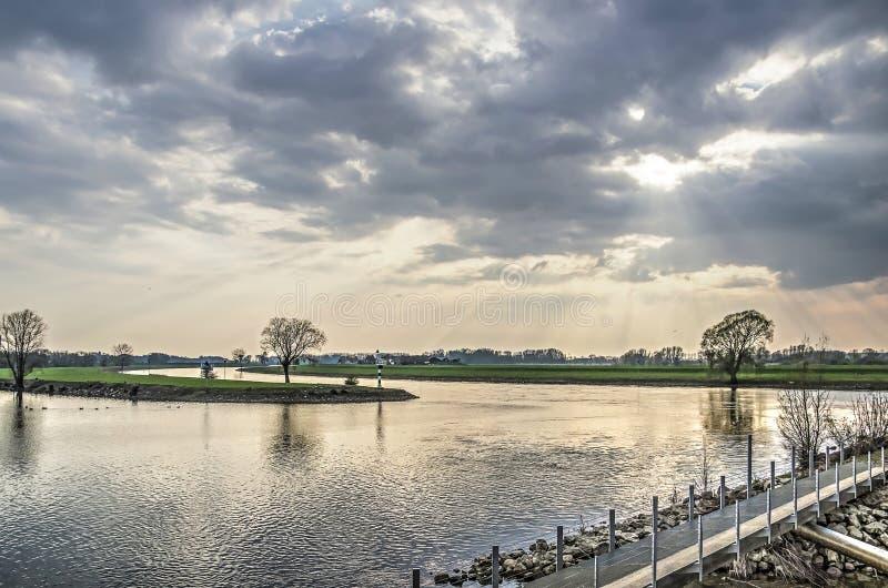Sikt från Doesburg strand arkivfoto
