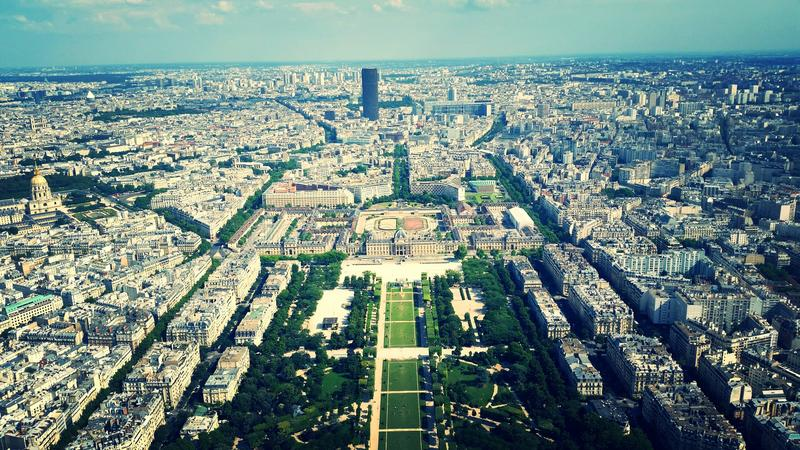 Sikt från Eiffelen arkivbild