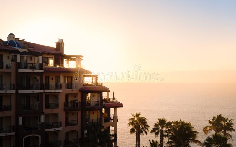 Sikt från ett hotell i Cabo San Lucas arkivfoton