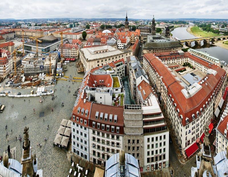 Sikt från Frauenkirche, Dresden royaltyfri fotografi