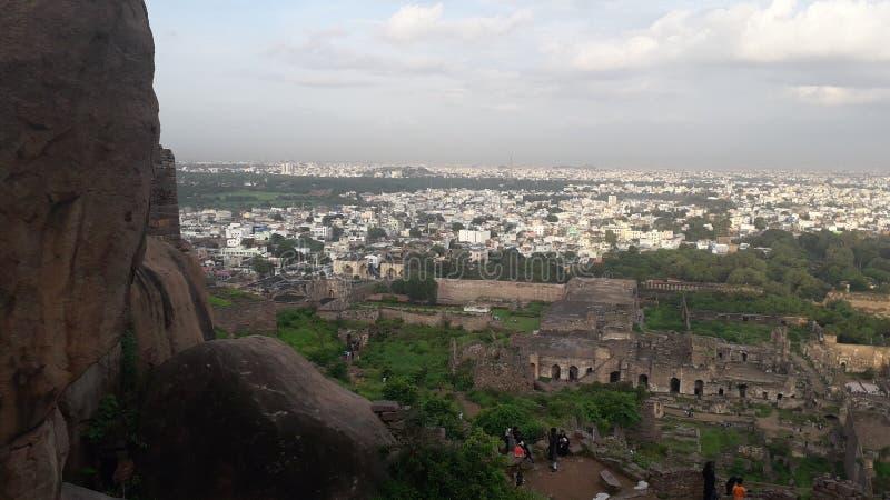 Sikt från golkonda arkivfoto