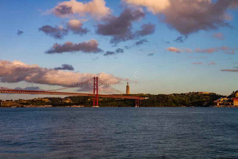 sikt från Lissabon arkivbilder