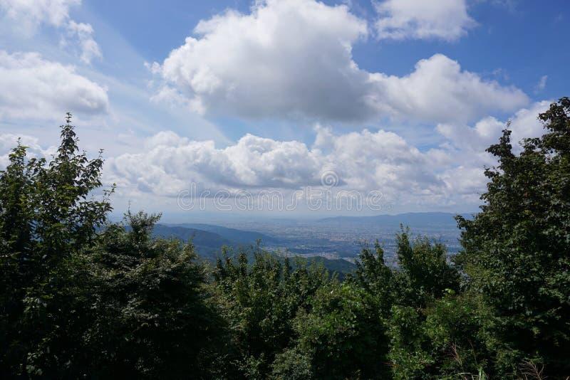 Sikt från monteringen Hiei Trailpath fotografering för bildbyråer