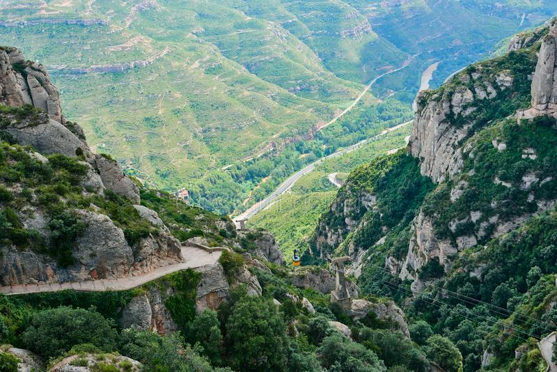 Sikt fr?n monteringen Montserrat royaltyfri foto