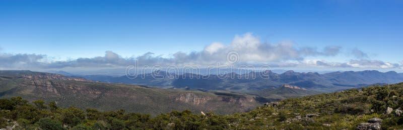 Sikt från Mountt William, Grampians nationalpark, Victoria, Australien arkivbild