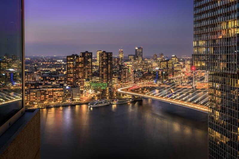Sikt från New Orleans som bygger Rotterdam royaltyfri fotografi