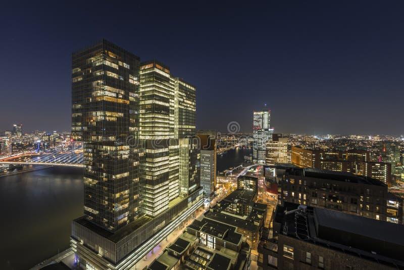 Sikt från New Orleans som bygger Rotterdam arkivfoto