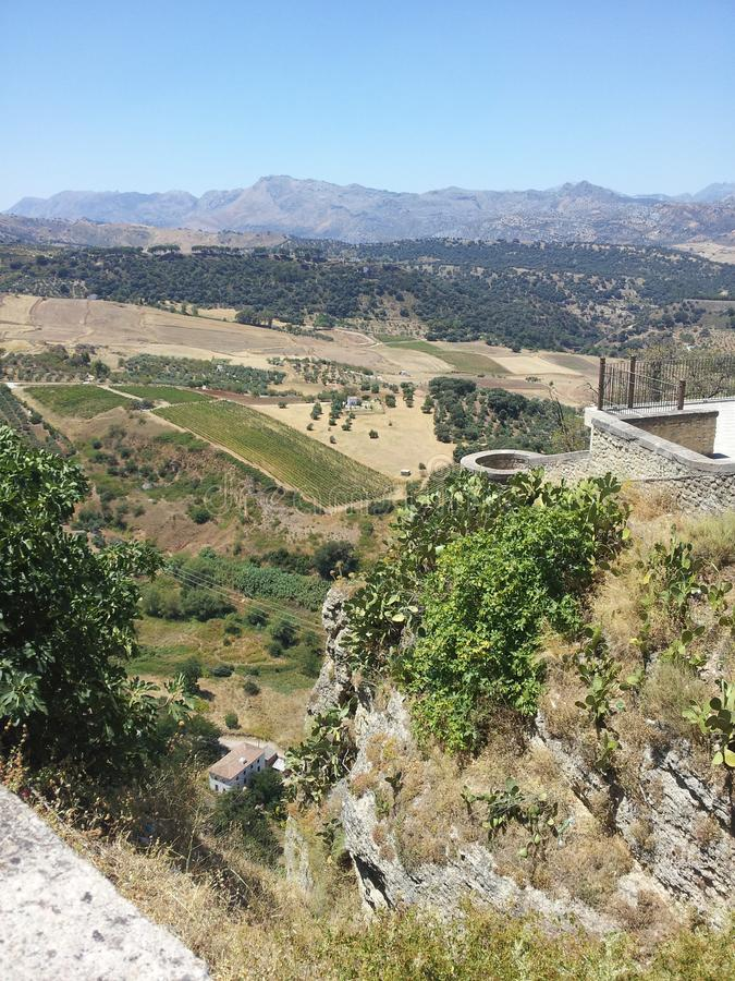 Sikt från Ronda i Spanien royaltyfria bilder