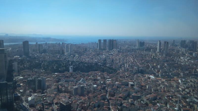 Sikt från safir, Istanbul arkivfoton