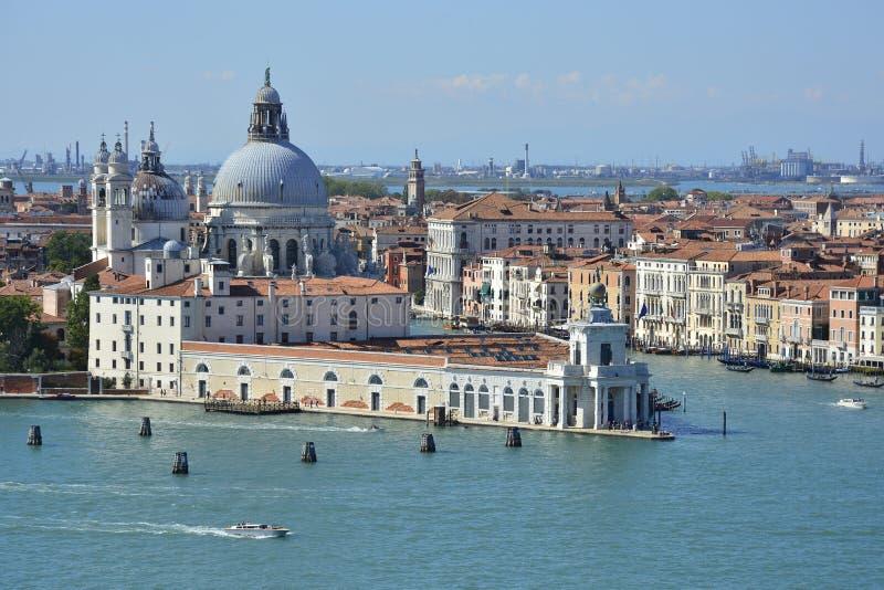 Sikt från San Giorgio Maggiore royaltyfri fotografi
