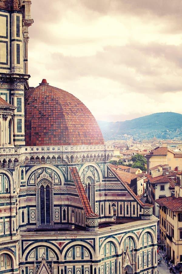 Sikt från Santa Maria del Fiore, Florence royaltyfri fotografi