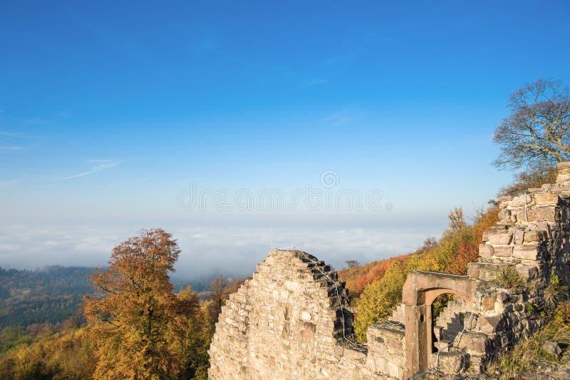 Sikt från slotten Hohenbaden i Baden-Baden royaltyfri fotografi