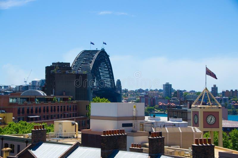Sikt från Sydney Harbour YHA royaltyfria bilder