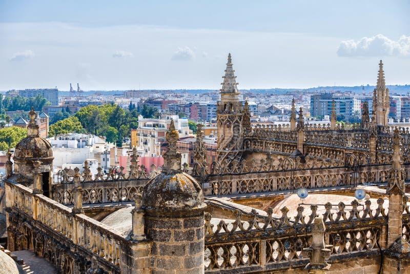 Sikt från tornet Giralda arkivfoto