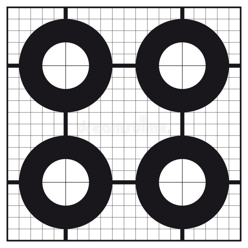 Sikt-i cirkel format kalibreringsskyttemål arkivbild