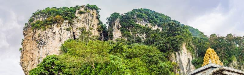Sikt i de Batu grottorna, nära Kuala Lumpur, Malaysia royaltyfri fotografi