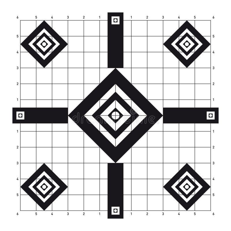 Sikt-i diamanten format skyttemål royaltyfri bild