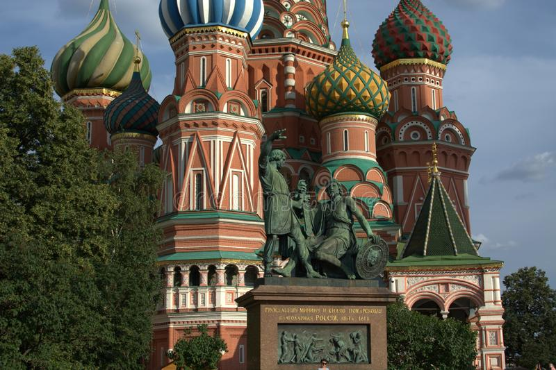 Sikt i huvudstaden av Ryssland royaltyfria bilder