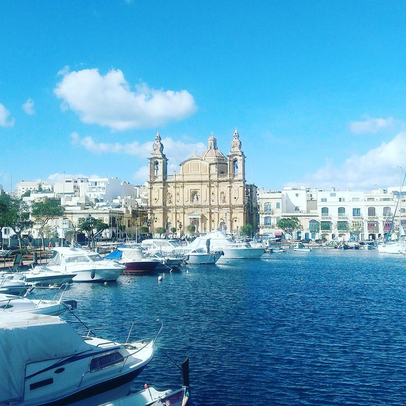 Sikt i Msida royaltyfri fotografi