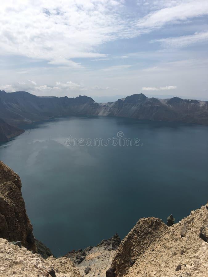 Sikt och landskap för bra berg bästa på det Changbai berget royaltyfri bild