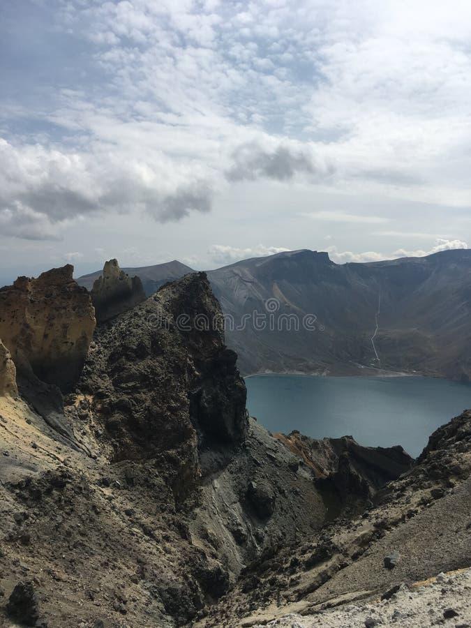 Sikt och landskap för bra berg bästa på det Changbai berget arkivbilder