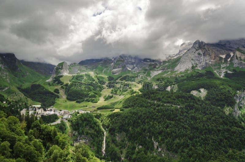 Sikt på bergen i Spanien arkivfoto