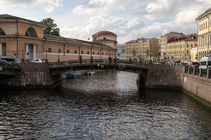 Sikt på bron fotografering för bildbyråer