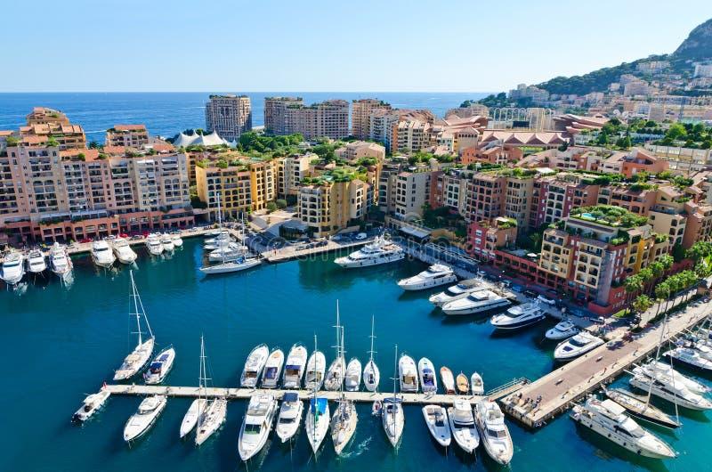 Sikt på den Monaco hamnen royaltyfria bilder