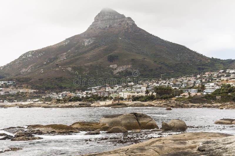 Sikt på det Lion Head berget i Cape Town arkivbilder