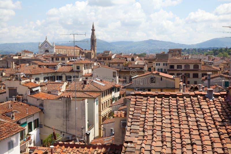 Sikt på Florence royaltyfria foton