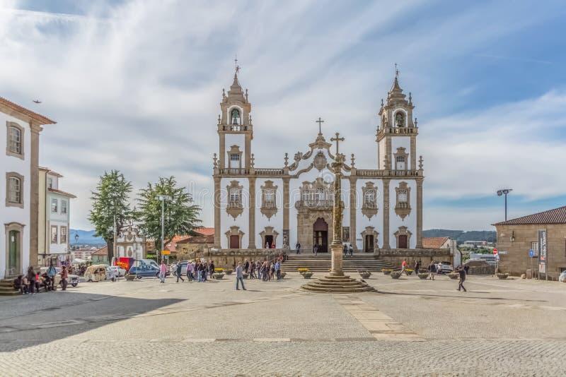 Sikt på kyrkan av förskoning, Igreja da Misericordia, barock stilmonument royaltyfria bilder