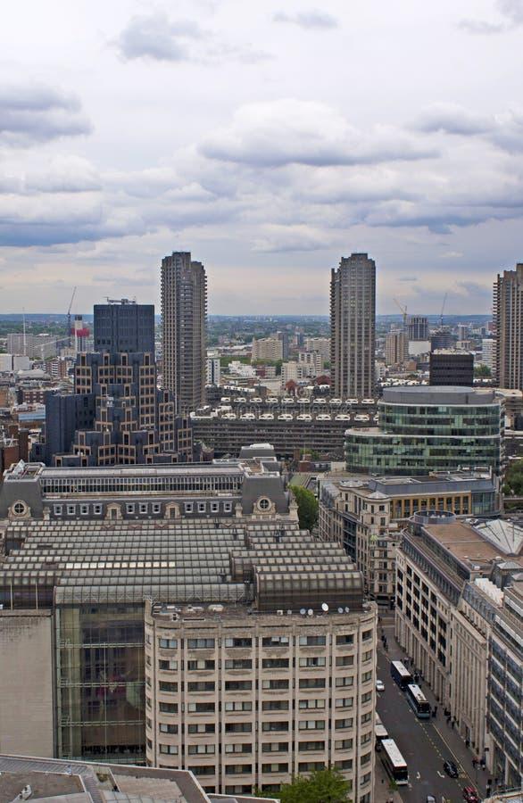 Sikt på London uppifrån royaltyfri bild