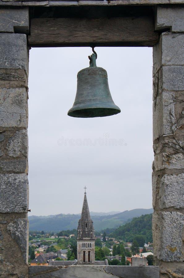 Sikt på Lourdes royaltyfria foton