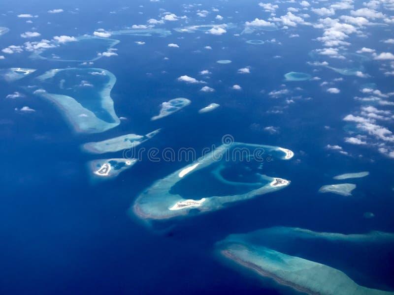 Sikt på maldive icelands arkivfoton