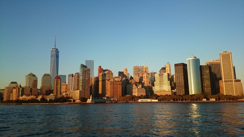 Sikt på Manhattan New York royaltyfri foto