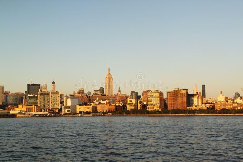 Sikt på Manhattan New York Midtown Manhattan, New York royaltyfria bilder