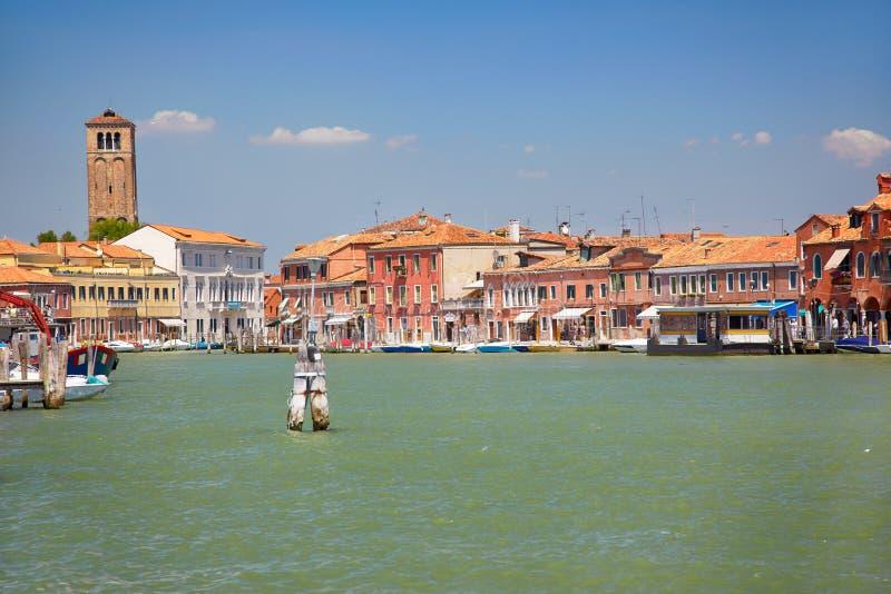 Sikt på Murano kanaler, Italien royaltyfri fotografi